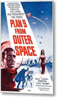 Movie Poster For Plan 9 From Outer Space  Metal Print by Celestial Images
