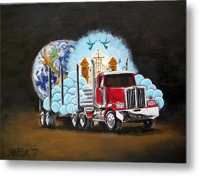 Moving Heaven And Earth  Metal Print