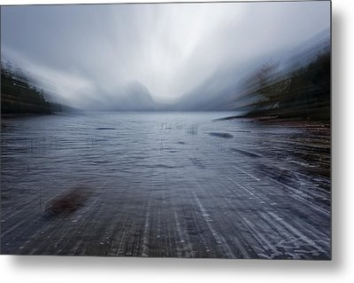 Moving Into The Lake Metal Print by Jon Glaser