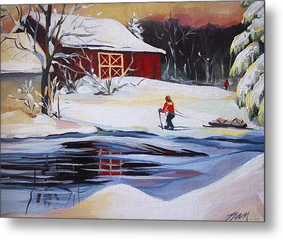 Moving Into Winter Haven Metal Print by Nancy Griswold