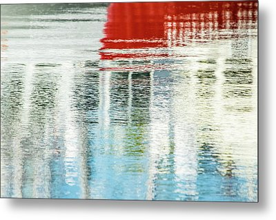 Moving Reflections Metal Print
