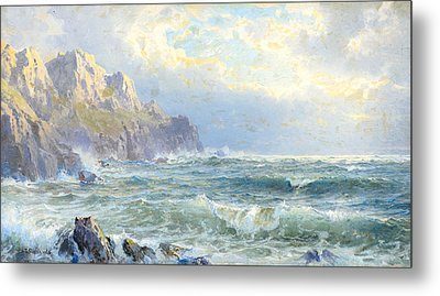 Moye Point Guernsey Channel Islands Metal Print