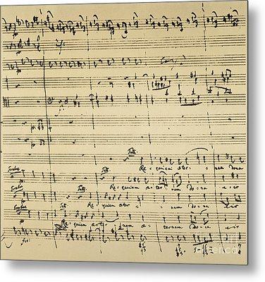 Mozart: Requiem Excerpt Metal Print