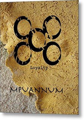 Mpuannum Adinkra Symbol Metal Print
