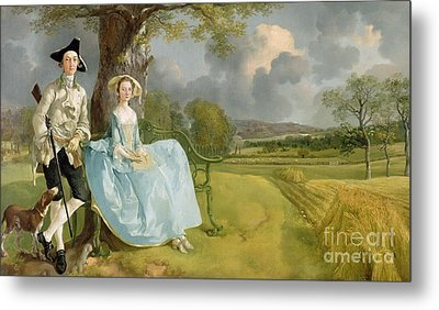 Mr And Mrs Andrews Metal Print by Thomas Gainsborough