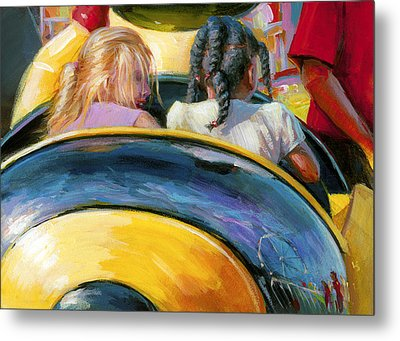 Mr. Bee Takes Some Friends For A Ride Metal Print