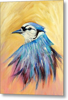 Mr. Blue Metal Print