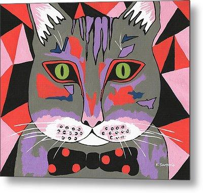 Mr Cat Metal Print by Kathleen Sartoris
