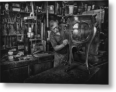 Mr. Francesco - Final Polishing... Metal Print by Antonio Grambone