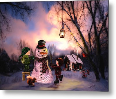 Mr. Frosty Metal Print