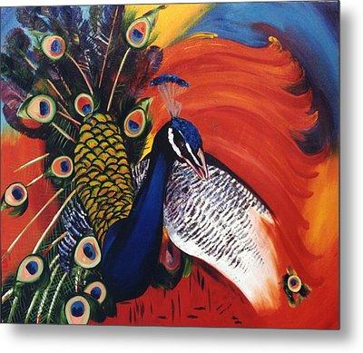 Mr Peacock Metal Print by Lisa Boyd