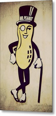 Mr Peanut Metal Print by Robin Dickinson
