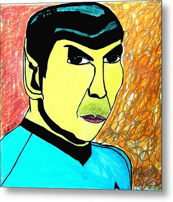 Mr. Spock Metal Print by Paulo Guimaraes