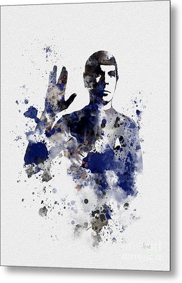 Mr Spock Metal Print by Rebecca Jenkins