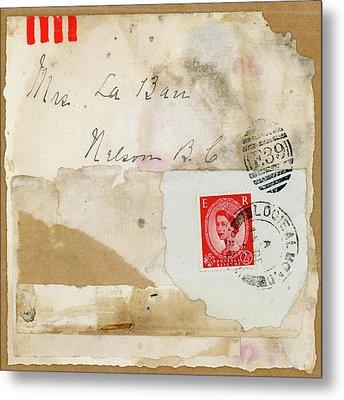 Mrs. Laban Collage Metal Print