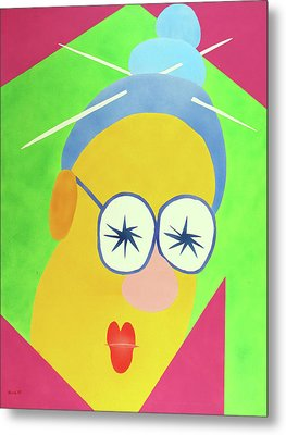 Metal Print featuring the painting Mrs. Strangefellow by Thomas Blood