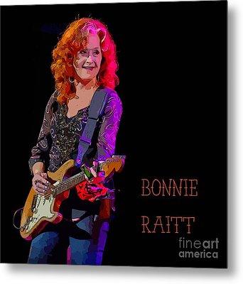 Ms. Bonnie Raitt Rocks Metal Print by John Malone