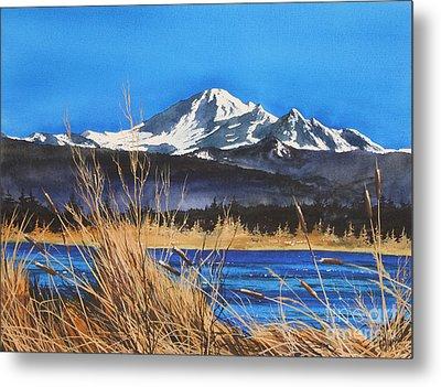 Mt Baker Wiser Lake Metal Print by James Williamson