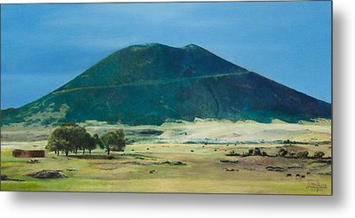 Metal Print featuring the painting Mt. Capulin In Summer by Joshua Martin