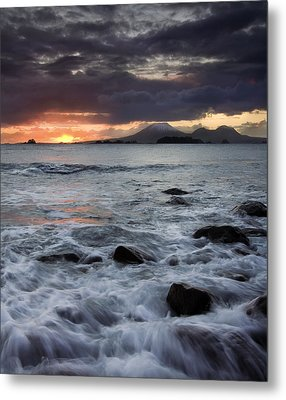 Mt. Edgecumbe Sunset Metal Print by Mike  Dawson