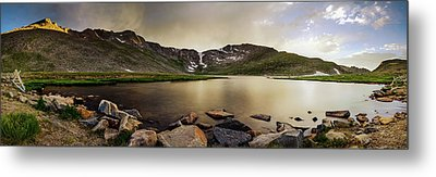 Metal Print featuring the photograph Mt. Evans Summit Lake by Chris Bordeleau