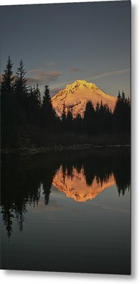 Mt Hood Alpenglow II Metal Print by Albert Seger