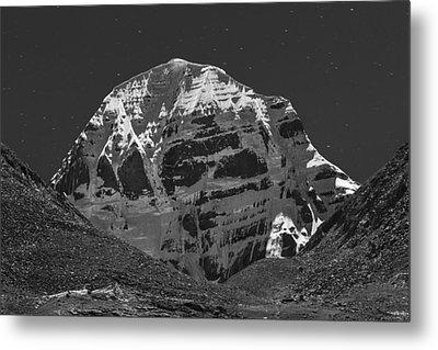 Mt. Kailash In Moonlight Metal Print by Hitendra SINKAR