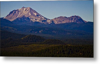 Mt Lassen And Chaos Crags Metal Print by Albert Seger