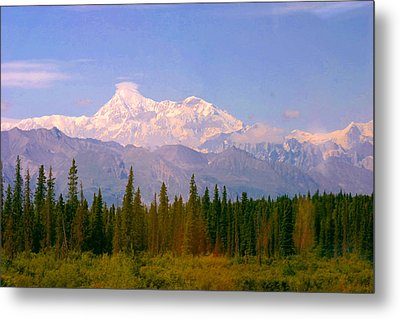 Metal Print featuring the photograph Mt Mckinley 125 Miles Away by Jack G  Brauer