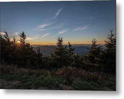 Metal Print featuring the photograph Mt Mitchell Sunset North Carolina 2016 by Terry DeLuco