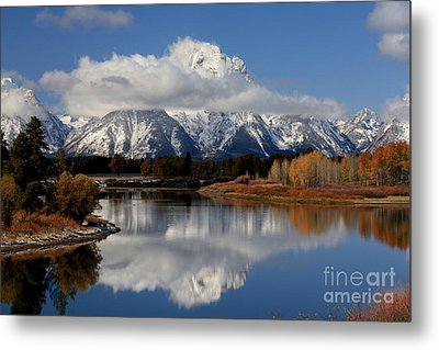 Metal Print featuring the photograph Mt Moran by Edward R Wisell