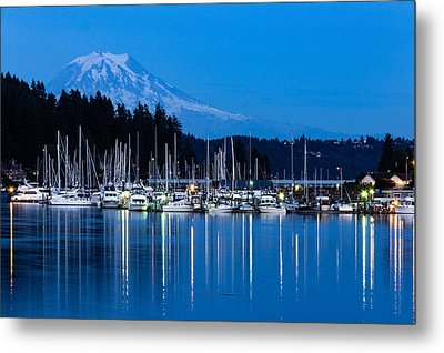 Mt. Rainier From Gig Harbor Metal Print