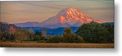 Mt Rainier In The Fall Metal Print