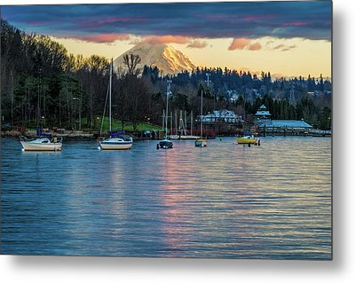 Mt Rainier In View Metal Print