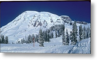 Metal Print featuring the photograph Mt. Rainier by Larry Keahey