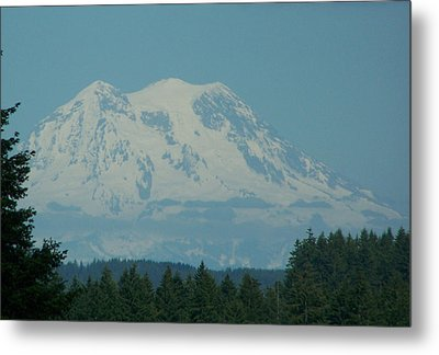 Mt Rainier Washington Metal Print by Laurie Kidd
