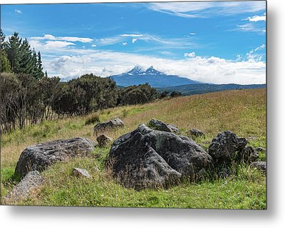 Metal Print featuring the photograph Mt Ruapehu View by Gary Eason