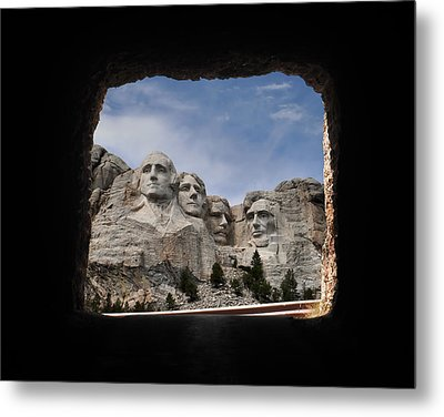 Metal Print featuring the photograph Mt Rushmore Tunnel by David Lawson