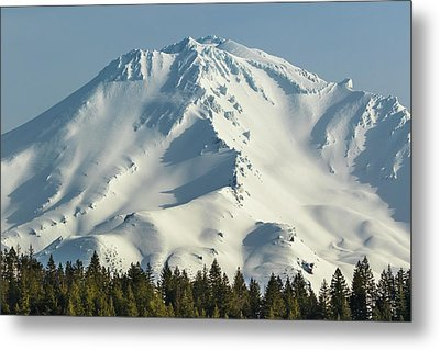 Metal Print featuring the photograph Mt Shasta In Early Morning Light by Marc Crumpler