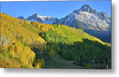 Metal Print featuring the photograph Mt. Sneffels From County Road 7 by Ray Mathis