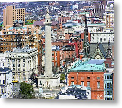 Mt Vernon - Baltimore Metal Print by Brian Wallace