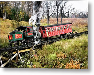 Mt Washington Cog Railway And Train Metal Print