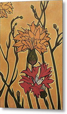 Mucha Ado About Flowers Metal Print by Carrie Jackson