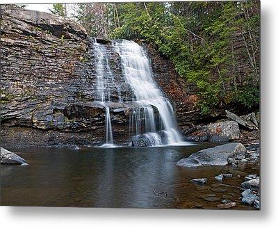 Muddy Creek Falls In Swallow Falls State Park Maryland Metal Print by Brendan Reals