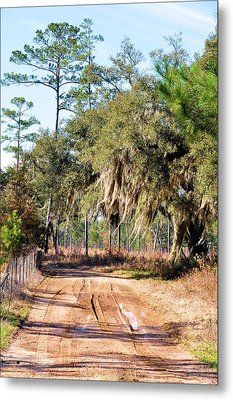 Muddy Road Metal Print by Jan Amiss Photography