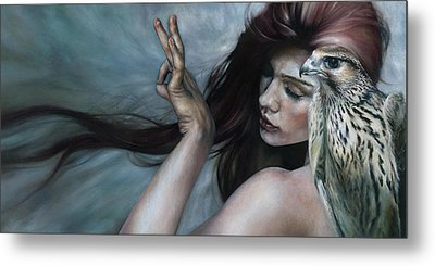 Metal Print featuring the painting Mudra by Ragen Mendenhall