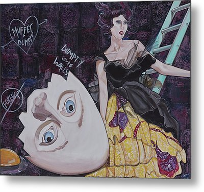 Muffet And Dumpty Metal Print