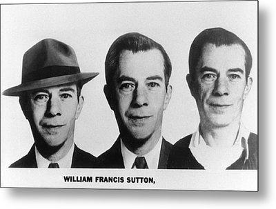Mug Shots Of Willie Sutton 1901-1980 Metal Print by Everett