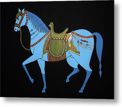 Mughal Horse Metal Print by Stephanie Moore