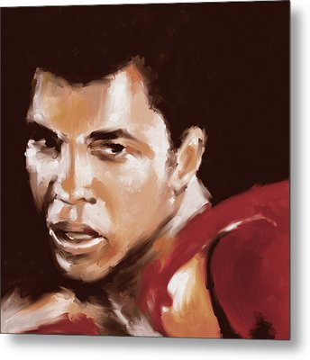 Muhammad Ali 551 1 Metal Print by Mawra Tahreem